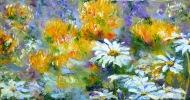 Pincushions and Shasta daisies